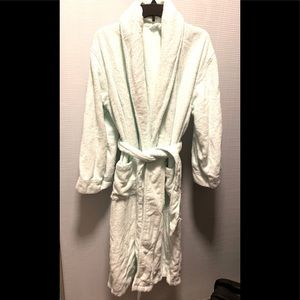 Long Robe. Belted. Light Mint. 100 cotton Size M-L